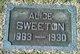 Profile photo:  Alice L. <I>Aldridge</I> Sweeton