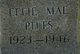 Profile photo:  Effie Mae <I>Williams</I> Pitts