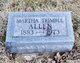 "Profile photo:  Martha E ""Mattie"" <I>Trimble</I> Allen"