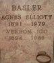 Profile photo:  Agnes Elizabeth <I>Elliott</I> Basler