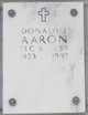 Profile photo:  Donald Joseph Aaron