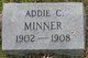 Profile photo:  Addie Carty Minner
