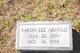 Profile photo:  Aaron Lee Arnold