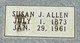"""Susan Permelia """"Susie"""" <I>James</I> Allen"""