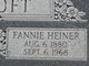 Fannie <I>Heiner</I> Croft