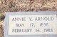 Profile photo:  Annie <I>Young</I> Arnold
