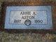 """Profile photo:  Abigail Adara """"Abbie"""" <I>Bates</I> Aston"""