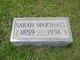 Sarah <I>McGrady</I> Marshall