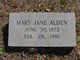 Profile photo:  Mary Jane Alden