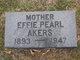 Profile photo:  Effie Pearl <I>Robertson</I> Akers