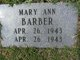 Profile photo:  Mary Ann Barber
