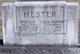 "Permelia Elizabeth ""Lizzie"" <I>Hovater</I> Hester"