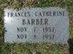 Profile photo:  Frances Catherine Barber