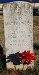 Profile photo:  A D Matthews, Sr