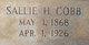 Sallie <I>Hattaway</I> Cobb