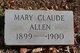 Profile photo:  Mary Claude Allen