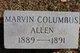 Profile photo:  Marvin Columbus Allen