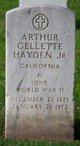 Profile photo:  Arthur Gellette Hayden, Jr