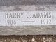 "Pvt Harry G. ""Hap"" Adams"