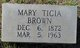 "Mary Leticia ""Ticia"" <I>Horne</I> Brown"