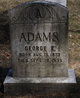 Profile photo:  George Edward Adams