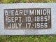 Profile photo:  A. Earl Minich