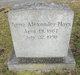 Profile photo:  Anna <I>Alexander</I> Hays