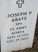 Profile photo:  Joseph P Abate