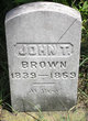 Profile photo:  John T. Brown