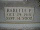 Babetta Elizabeth <I>Pontius</I> Hogsett