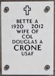 Profile photo:  Bette A Crone
