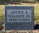 Profile photo:  Archie R. Gillespie Sr.