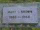 Mary Catherine <I>Benson</I> Brown
