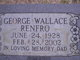 Profile photo:  George Wallace Renfro