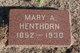Profile photo:  Mary Ann <I>Morse</I> Henthorn