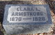 Profile photo:  Clara L <I>Smith</I> Armstrong