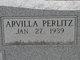 Profile photo:  Arvilla Frances <I>Perlitz</I> Jones