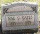 Profile photo:  Mae Crary Gates