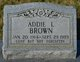 Addie Lea <I>Singleton</I> Brown