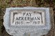 Profile photo:  Fay Olive Ackerman