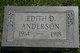 Profile photo:  Edith Anderson
