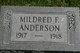 Profile photo:  Mildred I. Anderson