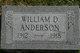 Profile photo:  William D. Anderson