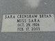 Sara <I>Crenshaw</I> Bryan