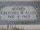 "Profile photo:  Hildegard Mary ""Gretchen"" <I>Gau</I> Allen"