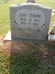 Ann <I>Stevens</I> Strong