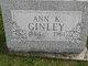 Profile photo:  Ann K. Ginley
