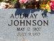 Profile photo:  Audry Velta Johnson