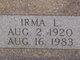 Profile photo:  Irma Lucille <I>Hartranft</I> Bishop