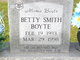 Profile photo:  Betty <I>Smith</I> Boyte